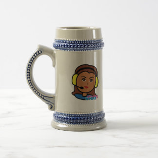 Pilot Girl Beer Stein
