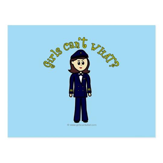Pilot Girl Postcard