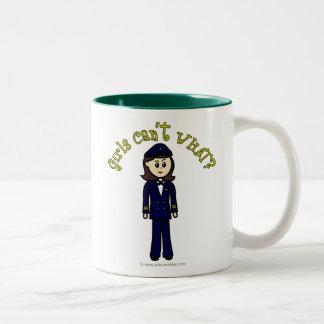 Pilot Girl Two-Tone Coffee Mug