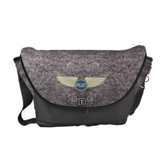 Pilot Gray Messenger Bags