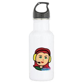 Pilot Head Light/Red Water Bottle