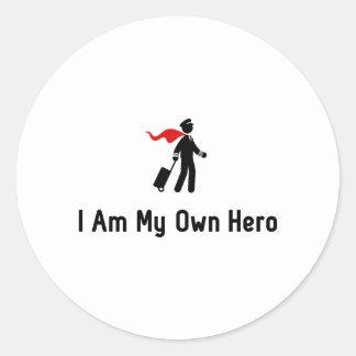 Pilot Hero Classic Round Sticker