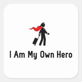 Pilot Hero Square Sticker