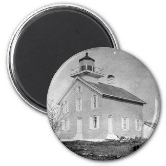 Pilot Island Lighthouse 2 Inch Round Magnet
