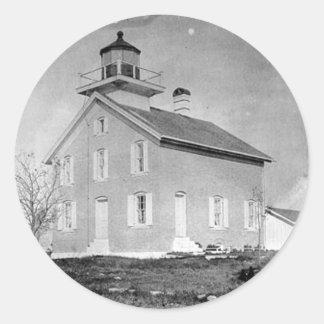 Pilot Island Lighthouse Classic Round Sticker