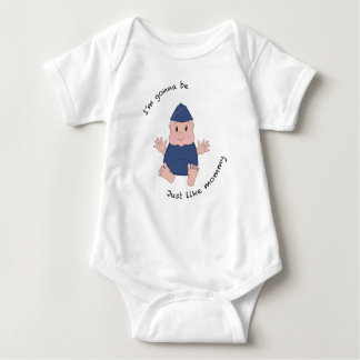 Pilot mommy baby bodysuit