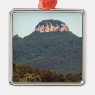 Pilot Mountain - North Carolina Metal Ornament