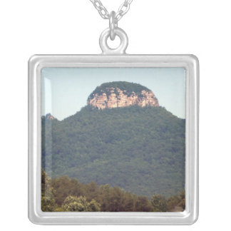 Pilot Mountain Silver Plated Necklace
