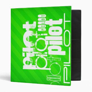 Pilot; Neon Green Stripes 3 Ring Binder