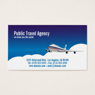 Pilot or Travel Agency Business Card