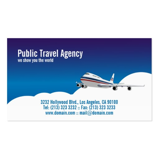 Pilot or Travel Agency Double Sided Standard Business