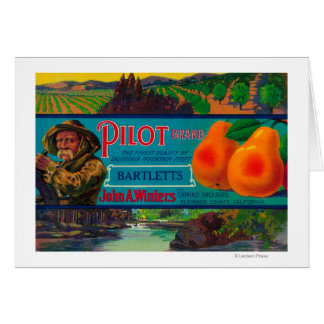 Pilot Pear Crate LabelEl Dorado County, CA Card