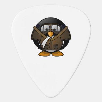 Pilot Penguin Guitar Pick by ZooCute at Zazzle