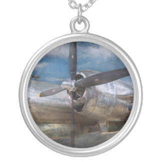 Pilot - Plane - The B-29 Superfortress Silver Plated Necklace