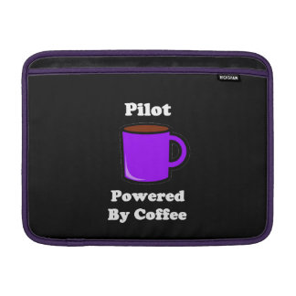 """Pilot"" Powered by Coffee MacBook Sleeve"