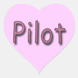 Pilot purple heart sticker
