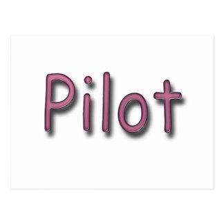 Pilot purple postcard