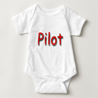 Pilot red baby bodysuit