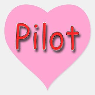 Pilot red heart sticker