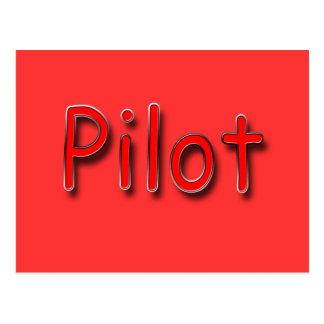 Pilot red postcard