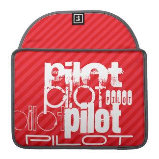 Pilot; Scarlet Red Stripes Sleeve For MacBook Pro