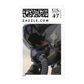 Pilot sits in his A-10 Thunderbolt II Postage