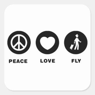 Pilot Square Sticker