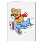 Pilot Teddy Bear Card