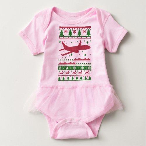 Pilot Ugly Christmas Baby Bodysuit