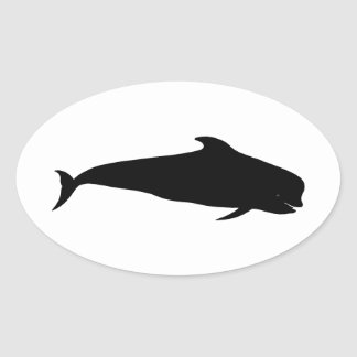 Pilot Whale (Blackfish) Oval Sticker