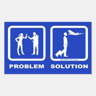Pilot Wife Plane Problem Solution Rectangular Sticker