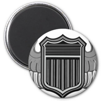 PILOT WINGS 2 INCH ROUND MAGNET