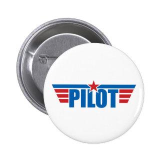 Pilot Wings Badge - Aviation Pinback Buttons