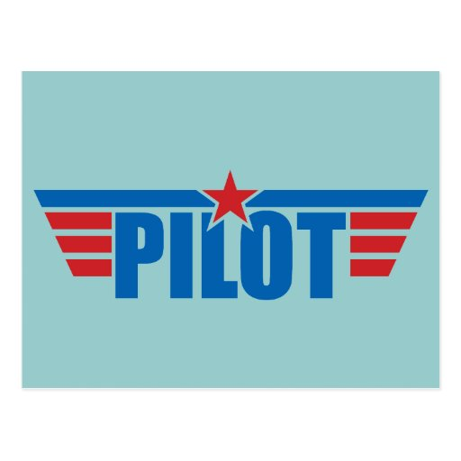 Pilot Wings Badge - Aviation Postcard