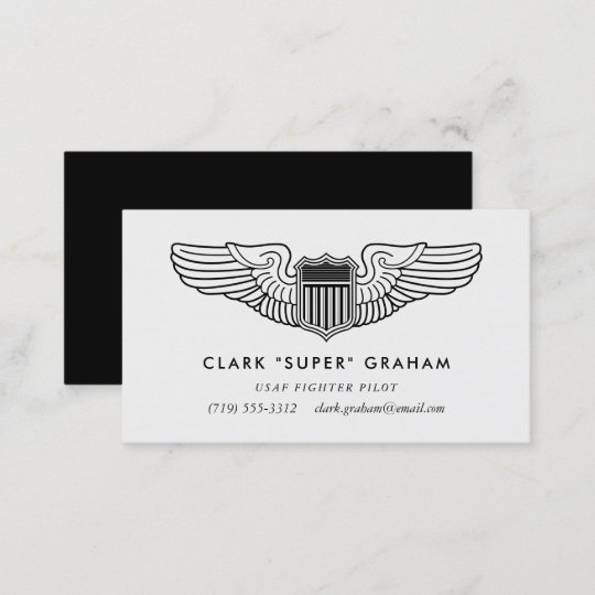 pilot wings professional aviator business card - Aviator Business Card