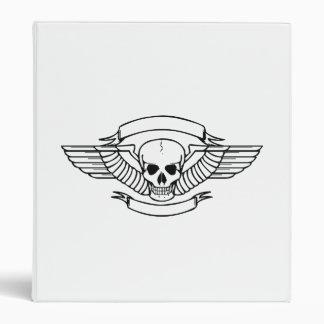 Pilot Wings Skull Vinyl Binder