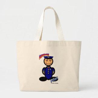 Pilot (with logos) large tote bag