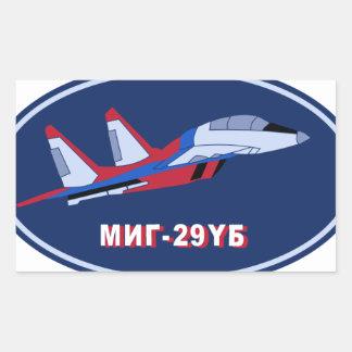 Piloten Ausbildungsabzeichen auf MIG 29 UB Trainer Rectangular Sticker