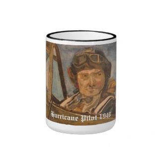 Piloto 1940 del huracán tazas de café