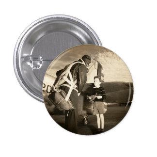 Piloto 1940 y muchacho militares americanos de los pin redondo de 1 pulgada