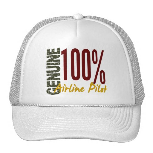 Piloto auténtico de la línea aérea gorras
