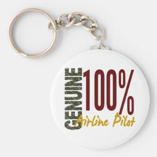 Piloto auténtico de la línea aérea llavero redondo tipo pin