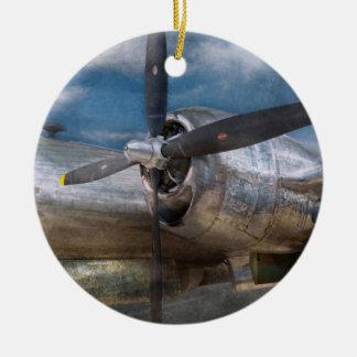 Piloto - avión - el B-29 Superfortress Ornamento Para Arbol De Navidad