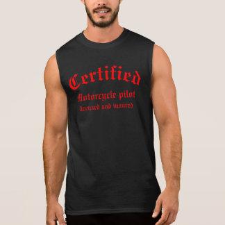 Piloto certificado de la motocicleta camiseta sin mangas