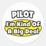 Piloto = clase de una gran cosa pegatina redonda
