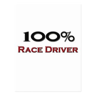 Piloto de carreras del 100 por ciento postales