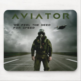 Piloto de caza del aviador alfombrilla de ratón