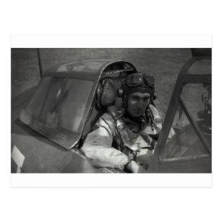 piloto de caza tarjeta postal