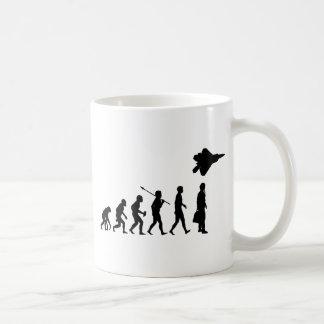 Piloto de caza taza de café