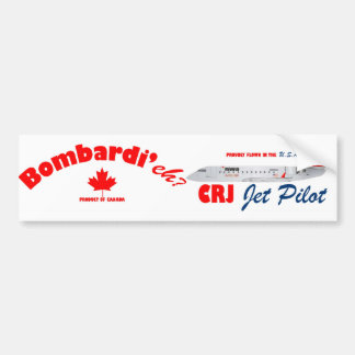 Piloto de jet de Bombardi'eh CRJ Pegatina De Parachoque